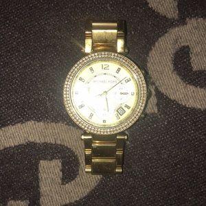 Michael Kors Parker Gold Tone Watch
